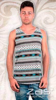 Camiseta étnica estampada