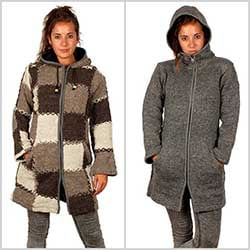 New Boho hippie wool coats and jackets and alternatives for boys and girls. ZAS your alternative Hippie store