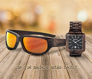 Utliza el código que te mostramos para obtener un 10% de Descuento en tus gafas de sol de madera o reloj de madera favorito. ZAS tu tienda Hippie alternativa