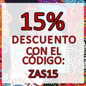 DESCUENTO ADICIONAL 15% CON EL CÓDIGO: ZAS15