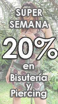 Desde el 10 de Junio 2013 hasta el 20 de Junio 2013 SUPER SEMANA de la BISUTERÍA y el PIERCING 20% de DESCUENTO... . ZAS tu tienda Hippie alternativa