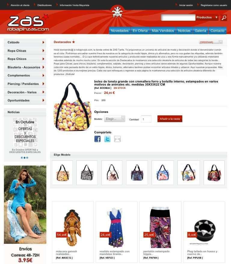 ¡Estamos de estreno! Acabamos de poner en marcha la nueva versión de ZAS robapinzas.com... . ZAS tu tienda Hippie alternativa