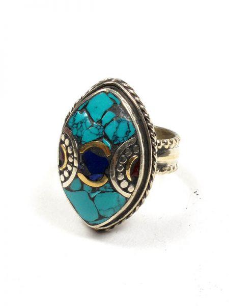 Bisutería Tibetana - Anillo Tibetano Piedras [ANAT05] para comprar al por mayor o detalle  en la categoría de Bisutería Hippie Étnica Alternativa.