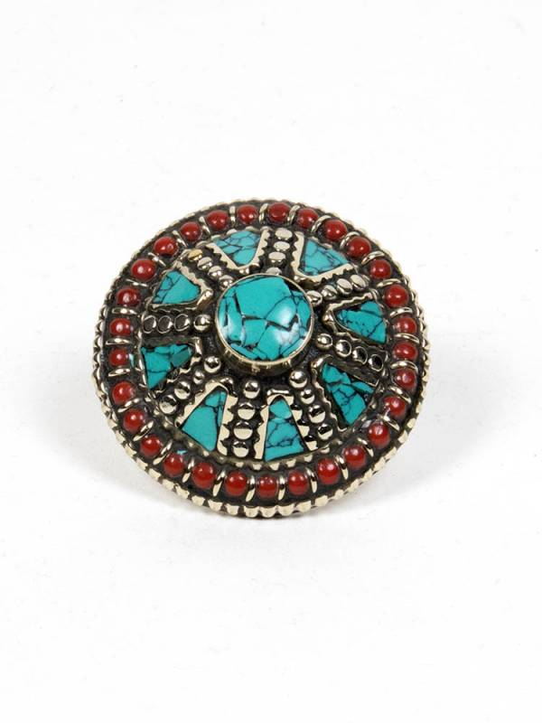Bisutería Tibetana - Anillo Tibetano Piedras [ANAT06] para comprar al por mayor o detalle  en la categoría de Bisutería Hippie Étnica Alternativa.