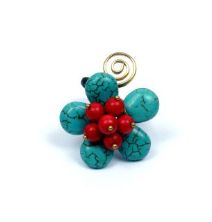 Anillo forma flor con espiral de latón [ANMU02] para Comprar al mayor o detalle
