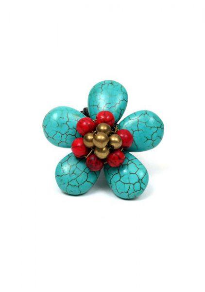 Anillo flor hippie piedras de colores Comprar - Venta Mayorista y detalle