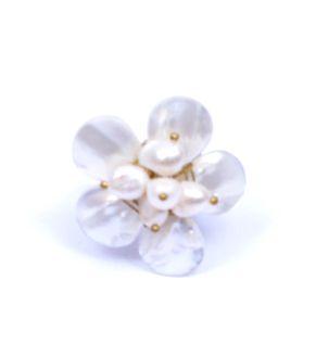 Anillo rosetón perlas de rio [ANMU06] para Comprar al mayor o detalle