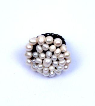 Anillo rosetón perlas de rio Comprar - Venta Mayorista y detalle