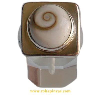 Anillo de plata 925, aprox 17 gr, robusto, Ojo de shiva de gran calidad y belleza engarzado. [PLANOJC] para comprar al por Mayor o Detalle en la categoría de Ojo de Shiva - Plata