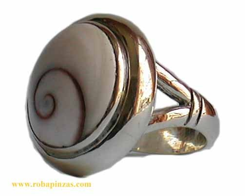 Anillo de plata 925, diseño ovalado, robusto aprox 16 gr, Ojo de [PLANOJR] para Comprar al mayor o detalle