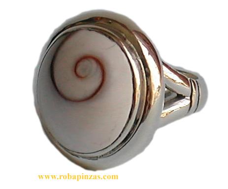 Anillo de plata 925, diseño ovalado, robusto aprox 16 gr, Ojo Comprar - Venta Mayorista y detalle