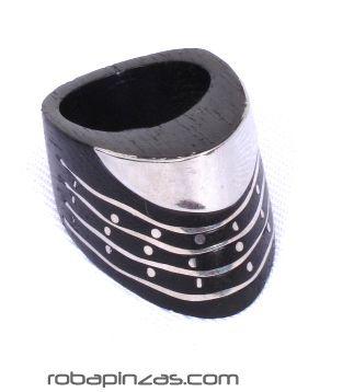 Anillo combinacion madera y acero inoxidable [ANPA04] para Comprar al mayor o detalle