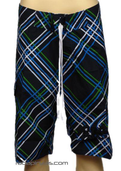 Bañador chico cuadros, con bolsillo lateral y cordón ajustable Comprar - Venta Mayorista y detalle