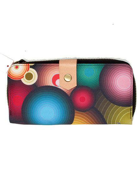 Cartera billetera de mujer de 70up con motivos setenteros tamaño Comprar - Venta Mayorista y detalle