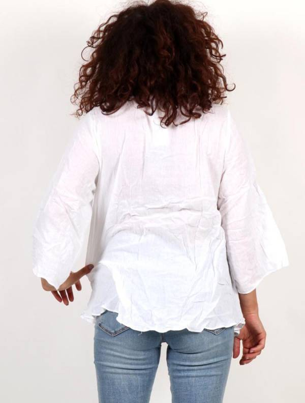 Blusa Étnica Bordado Flores - Detalle Comprar al mayor o detalle