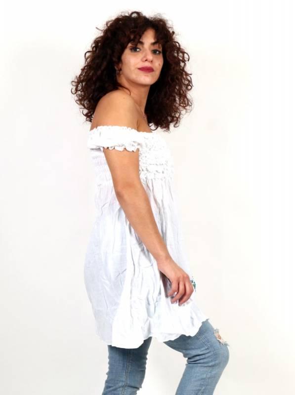 Vestido Étnico Bordado Flores - Detalle Comprar al mayor o detalle