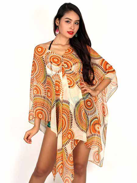 Transparencia Blusa Playa Mandalas [BLAR04]. Top y Blusas Hippies Alternativas para comprar al por mayor o detalle  en la categoría de Ropa Hippie Étnica para Chicas.