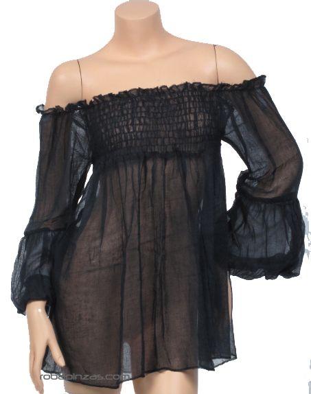 Blusa fina lisa. algodón, talla única Comprar - Venta Mayorista y detalle