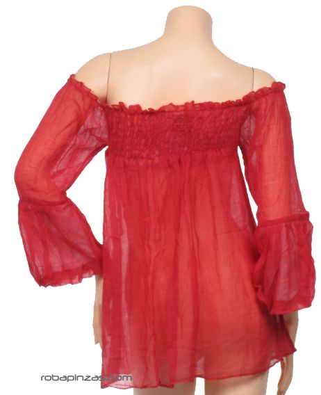 Blusa fina lisa. algodón, talla única - DETALLE Comprar al mayor o detalle