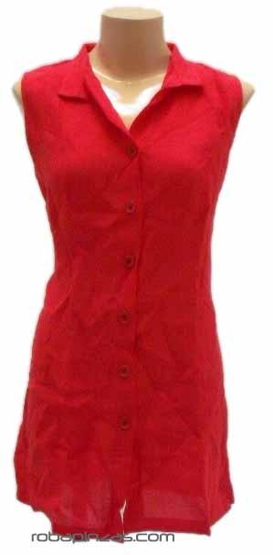 Blusa de Lino, botones bolsillos Comprar - Venta Mayorista y detalle