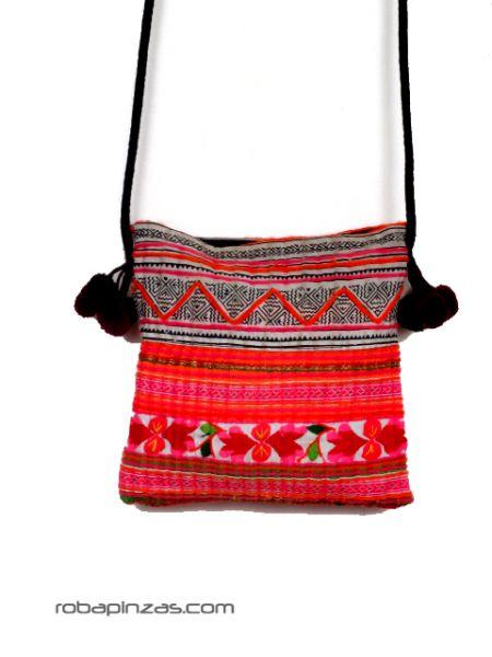 Bolso étnico pequeño realizado en algodón, materiales Comprar - Venta Mayorista y detalle