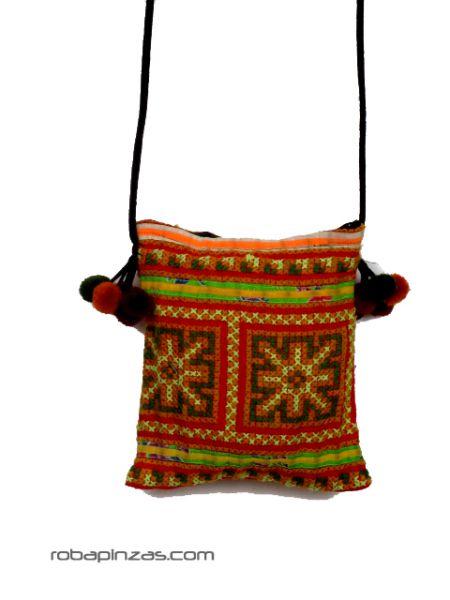 Bolso étnico pequeño bandolera cordón para Comprar al mayor o detalle