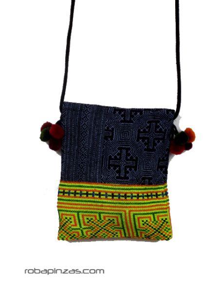 Bolsos y Mochilas Hippies - Bolso étnico pequeño bandolera cordón BOCH6 para comprar al por Mayor o Detalle en la categoría de Complementos Hippies Alternativos