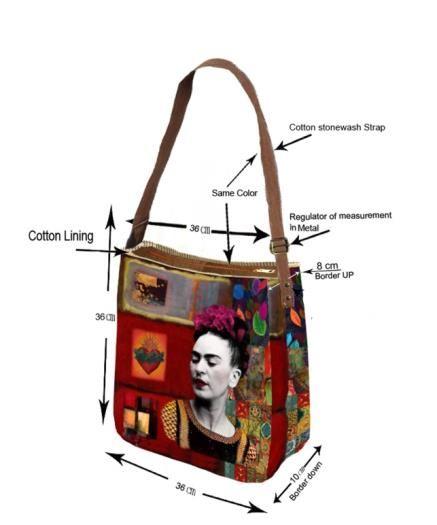 detalles Boolso Frida Kahlo Catkini.