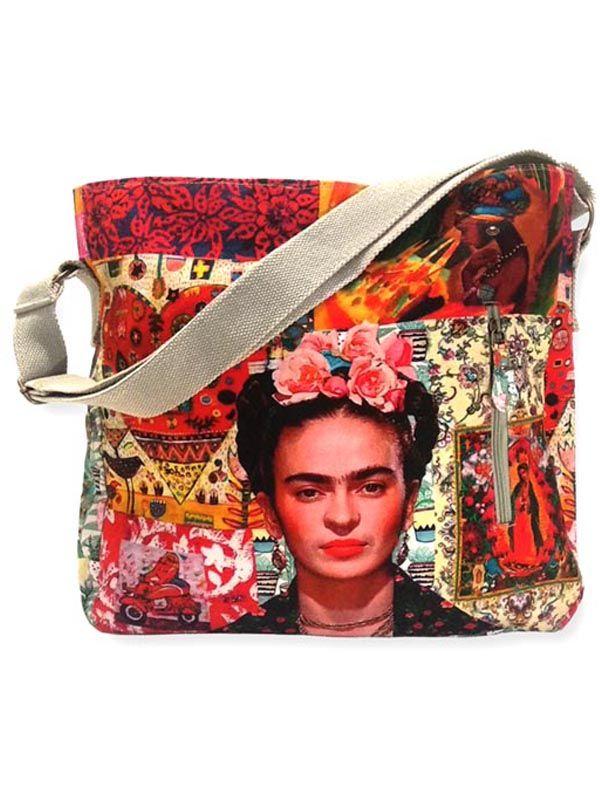 Bolsos Monederos Frida Kahlo  - Bolso Grande Estampados Frida Kahlo. [BOCT04] para comprar al por mayor o detalle  en la categoría de Complementos Hippies Alternativos.