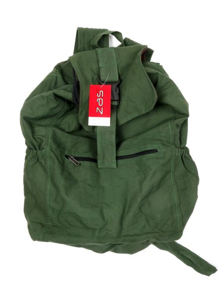 Mochila de loneta - Verde Comprar al mayor o detalle
