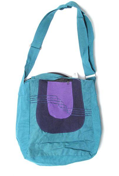 Bolso tricolor tamaño medio-grande detalles bordados con forro interno Comprar - Venta Mayorista y detalle