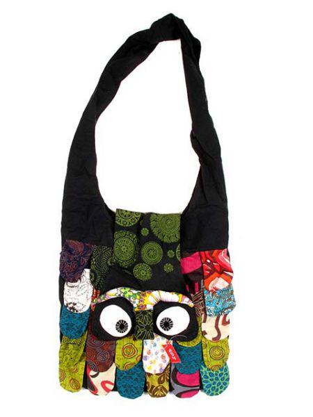 Bolso buho bandolera grande, bolso realizado en algodón con forma para Comprar al mayor o detalle