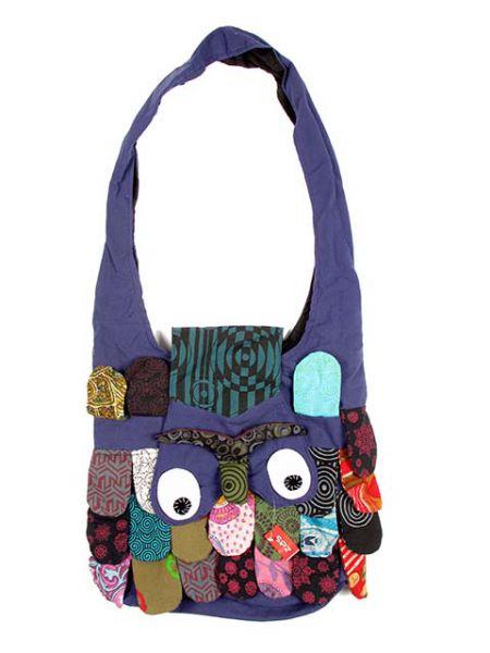 Bolsos y Mochilas Hippies - Bolso buho bandolera grande, bolso realizado en algodón con forma [BOHC21] para comprar al por mayor o detalle  en la categoría de Complementos Hippies Alternativos.
