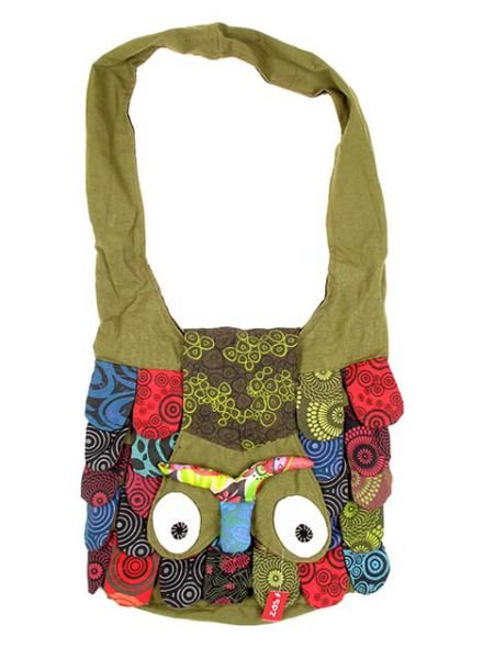 Bolso buho bandolera grande, bolso realizado en algodón con forma Comprar - Venta Mayorista y detalle
