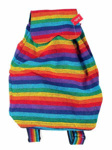 Mochilla Hippie Rasta Multicolor Mochila de Algodón Geri diseños Comprar - Venta Mayorista y detalle