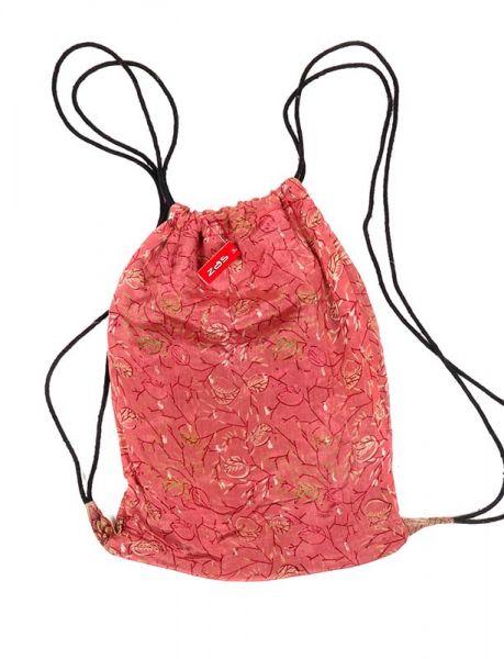 Mochila Hippie sencilla material sari reciclado. Mochila de cordón Comprar - Venta Mayorista y detalle