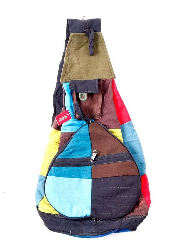 Bolsos y Mochilas Hippies - Mochila Hippie plegable Patchwork [BOHC29] para comprar al por mayor o detalle  en la categoría de Complementos Hippies Alternativos.