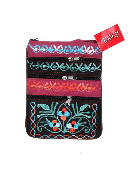 Bolsos y Mochilas Hippies - Bolso paraportera piel de melocotón bordado [BOKA04] para comprar al por mayor o detalle  en la categoría de Complementos Hippies Alternativos.