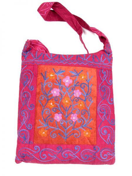 Bolso de piel de melocotón bordado con varios bolsillos y compartimentos. Comprar - Venta Mayorista y detalle