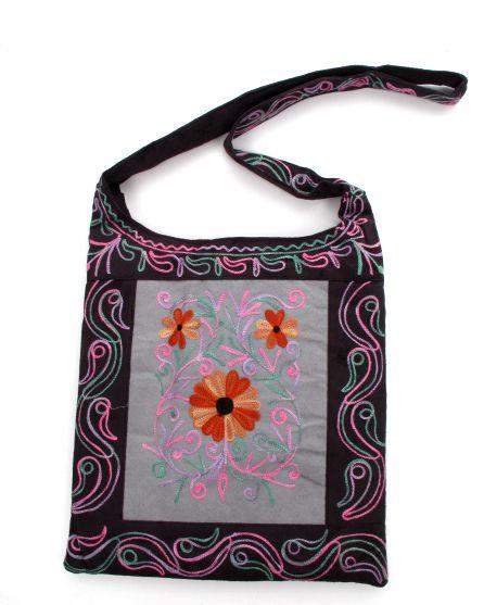 Bolso de piel de melocotón bordado con varios bolsillos y compartimentos, Comprar - Venta Mayorista y detalle