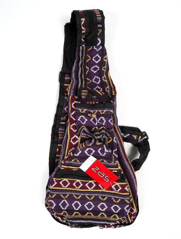 Mochila plegable de rayas multicolores [BOKA07]. Bolsos y Mochilas Hippies para comprar al por mayor o detalle  en la categoría de Complementos Hippies Alternativos.