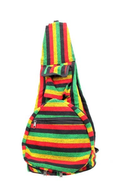Hippies Bags and Backpacks - Multicolor striped foldable backpack BOKA07 to buy Wholesale or Retail in the category of Alternative Hippie Accessories