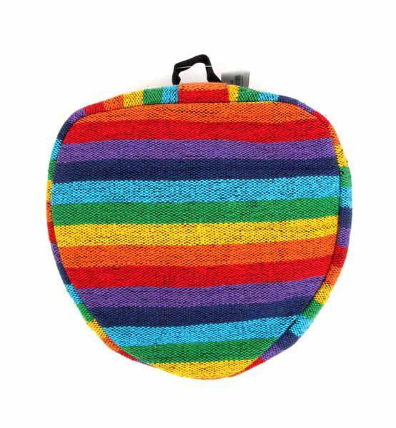 Mochila plegable de rayas multicolores BOKA07 para comprar al por mayor o detalle  en la categoría de Complementos Hippies Alternativos.