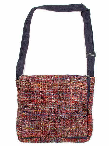 Bolso de piel de seda reciclada hippie cuadrado tamaño grande Comprar - Venta Mayorista y detalle