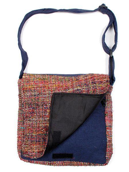 Bolsos y Mochilas Hippies - Bolso de piel de seda reciclada BOKA13.