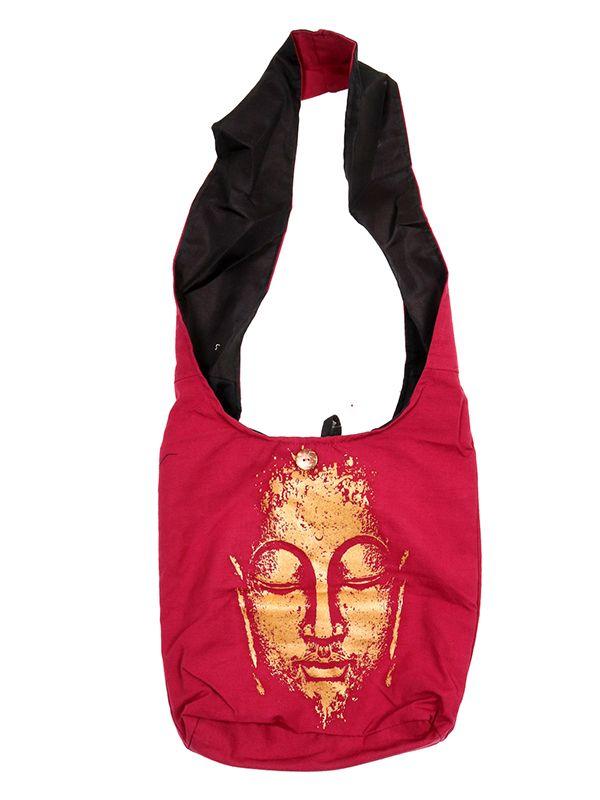 Bolsos y Mochilas Hippies - Bolso bandolera grande Buda [BOKA22-B] para comprar al por mayor o detalle  en la categoría de Complementos Hippies Étnicos Alternativos.