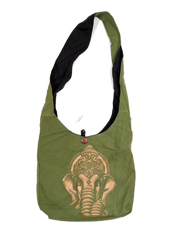 Bolsos y Mochilas Hippies - Bolso bandolera grande Ganesa [BOKA22-G] para comprar al por mayor o detalle  en la categoría de Complementos Hippies Étnicos Alternativos.