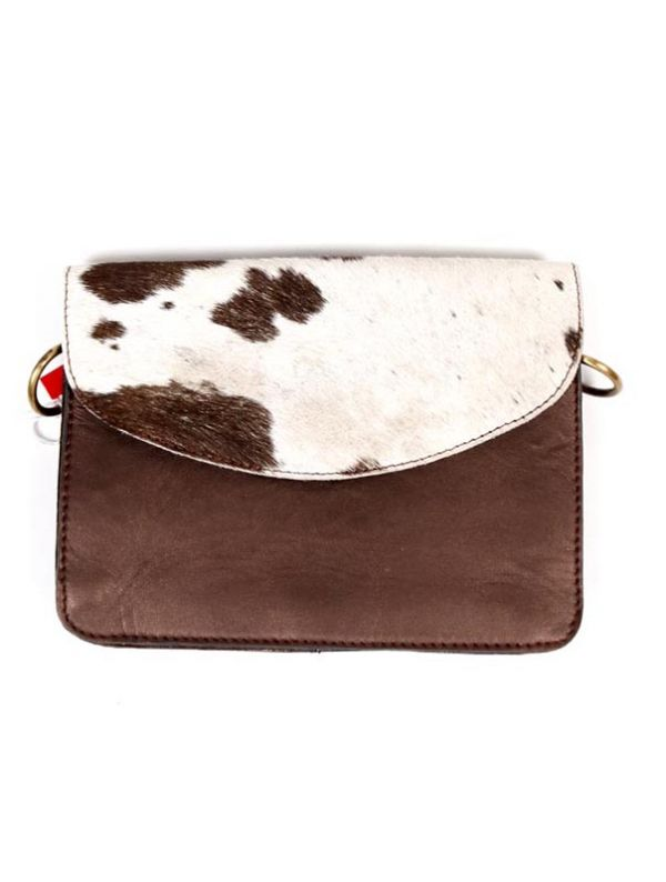 Bolso de Cuero Reciclado - Tapa estampado salvaje [BOKA23B-6] para comprar al por Mayor o Detalle en la categoría de Bolsos de Cuero Colores - Animal Print