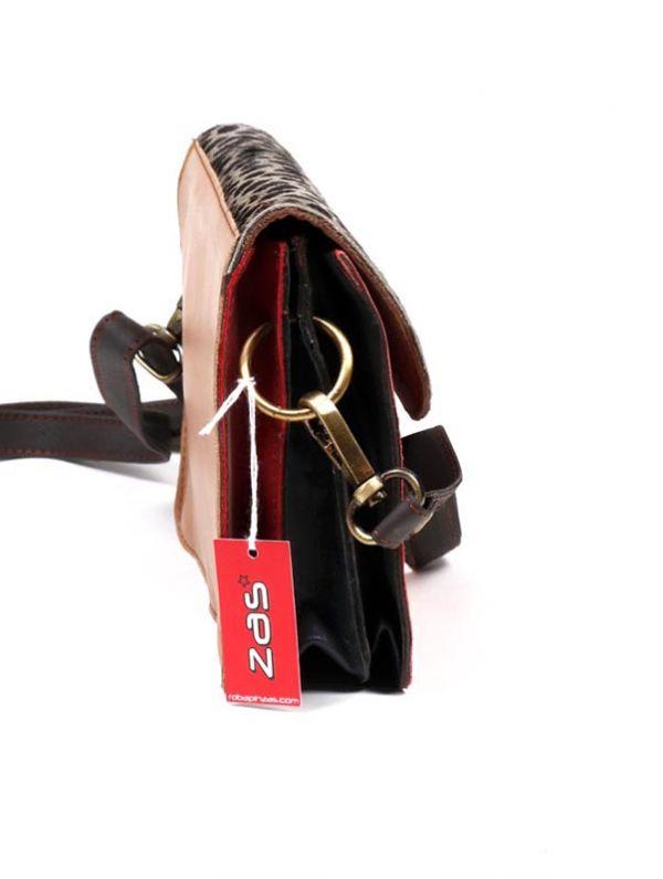 Bolso de cuero Reciclado con estampado salvaje - Detalle Comprar al mayor o detalle