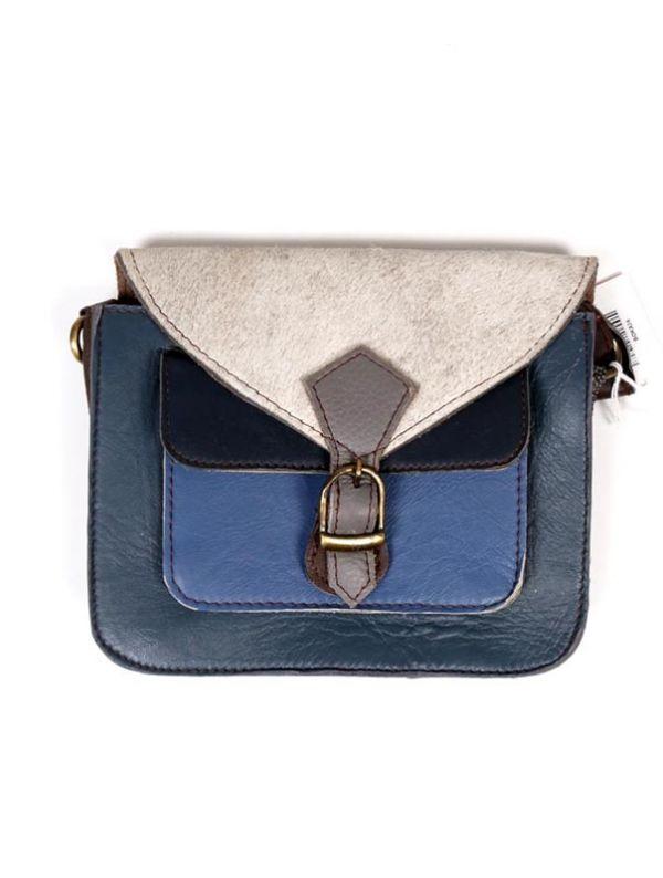 Bolso de cuero Reciclado con bolsillo frontal BOKA24-B para comprar al por mayor o detalle  en la categoría de Complementos Hippies Alternativos.